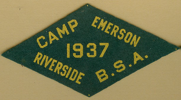 1937 Camp Emerson Patch