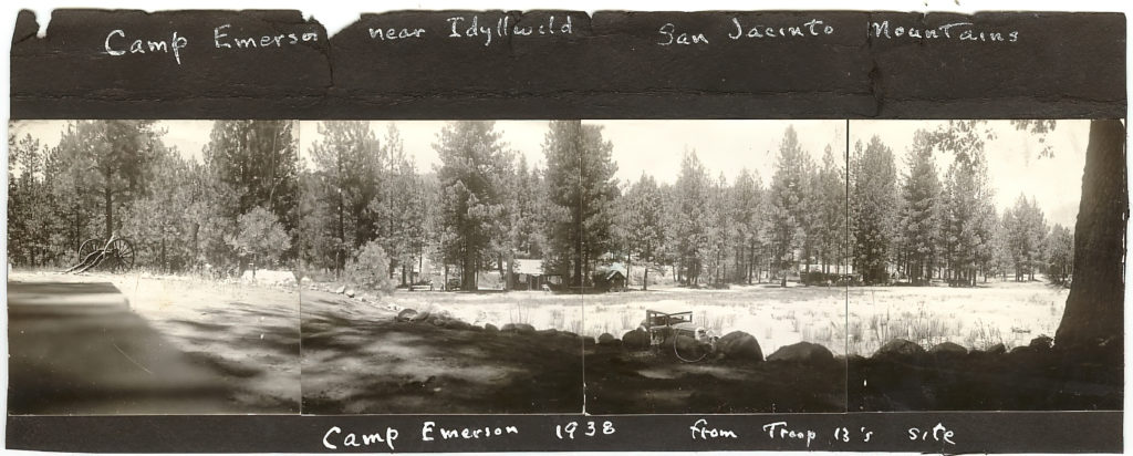 1938 Camp Emerson Panorama Photograph From Troop 13 Site